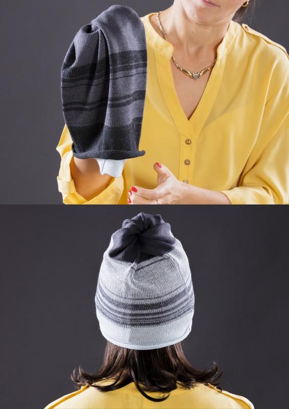 Tuneļšalles gali ir dažādi, līdz ar to katra no cepures pusēm ir savā krāsā