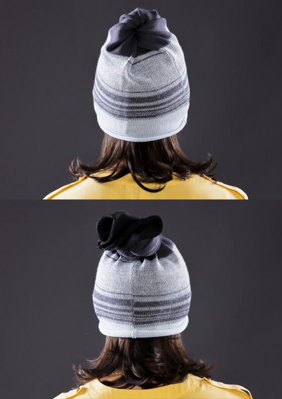 Tuneļšalles galā iesien mezglu un ir plānā cepure ar bumbuli